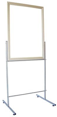 SINGLE or DOUBLE SIDED   H - STAND small