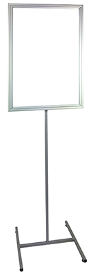 Steel H Base lollipop stand small