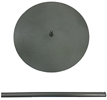 Steel lollipop stand collapsible small