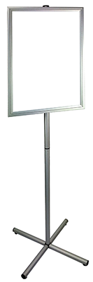 aluminium cross base lollipop stand samll
