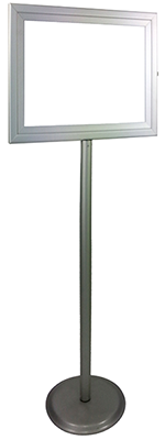 aluminium circular base lollipop stand portrate small